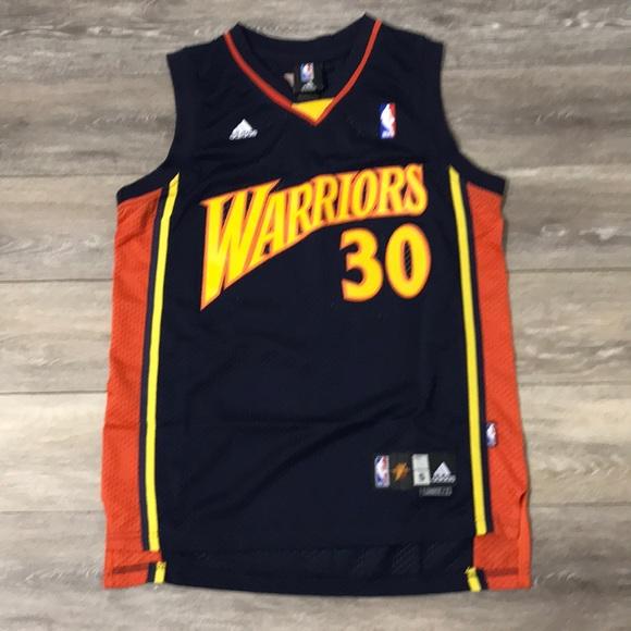 sale retailer b887c b53de NEW Steph Curry Warriors Retro Jersey Adidas NWT